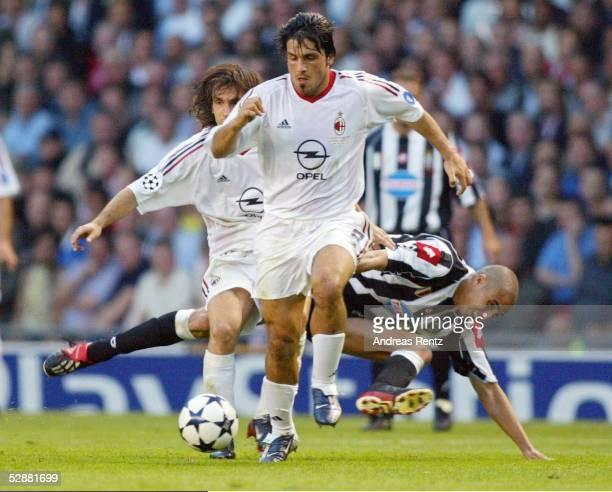 Champions League 02/03 Finale Manchester AC Mailand Juventus Turin 32 iE Gennaro GATTUSO/Mailand David TREZEGUET/Juventus