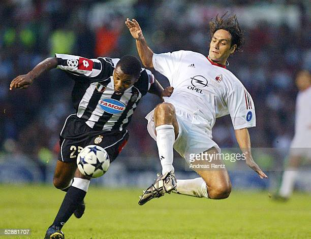 Champions League 02/03 Finale Manchester AC Mailand Juventus Turin 32 iE Marcelo Danubio ZALAYETA/Juventus/Alessandro COSTACURTA/Mailand