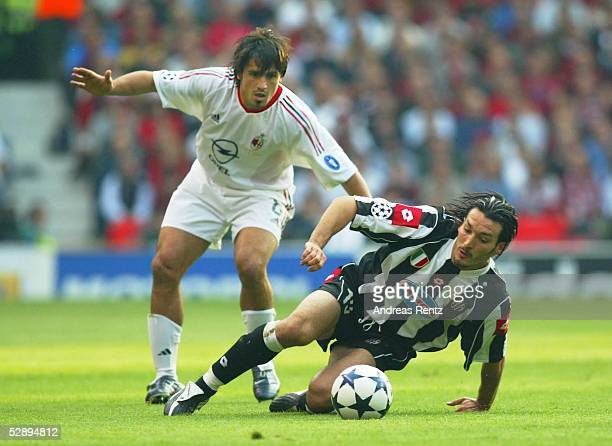 Champions League 02/03 Finale Manchester AC Mailand Juventus Turin Gennaro GATTUSO/Mailand Gianluca ZAMBROTTA/Turin