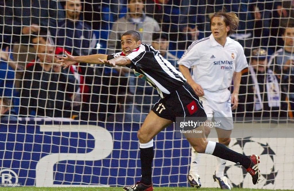 Champions League 02/03, Madrid; Real Madrid - Juventus Turin 2:1; David TREZEGUET/Juventus, Michel SALGADO/Madrid