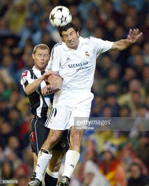 Champions League 02/03 Madrid Real Madrid Juventus Turin 21 Luis FIGO/Madrid Gianluca PESSOTTO/Juventus