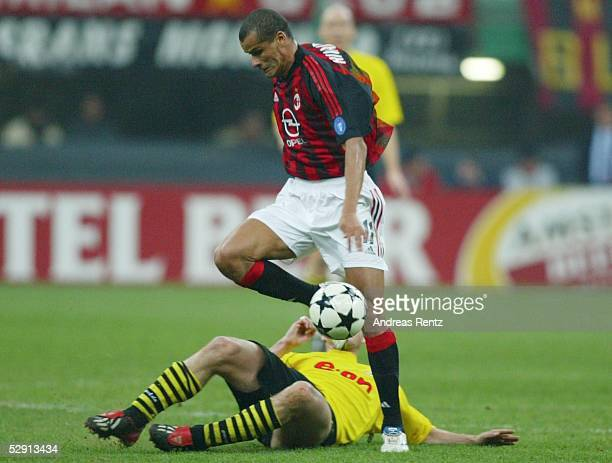 Champions League 02/03 Mailand AC Mailand Borussia Dortmund 01 RIVALDO/Mailand Sebastian KEHL/Dortmund