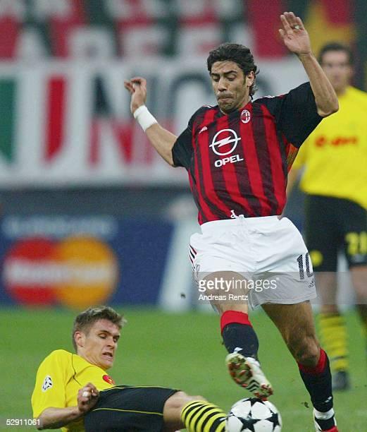 Champions League 02/03 Mailand AC Mailand Borussia Dortmund Sebastian KEHL/Dortmund RUI COSTA/Mailand