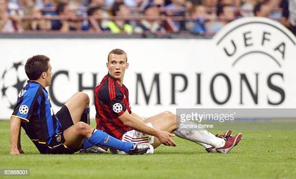 Champions League 02/03 Mailand Inter Mailand AC Mailand 11 Fabio CANNAVARO/Inter Andriy SHEVCHENKO/AC Mailand