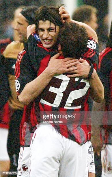 Champions League 02/03 Mailand Inter Mailand AC Mailand 11 Jubel Kakha KALADZE Cristian BROCCHI/AC Mailand