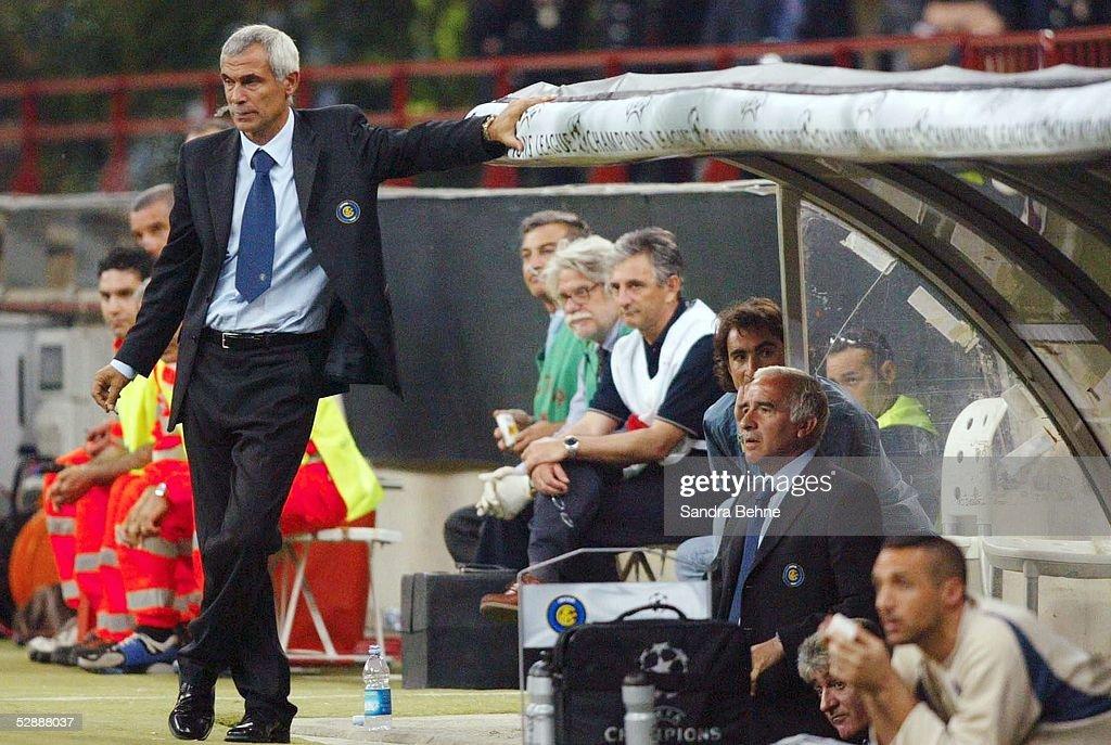 Fussball: CL 02/03, Inter Mailand - AC Mailand : News Photo