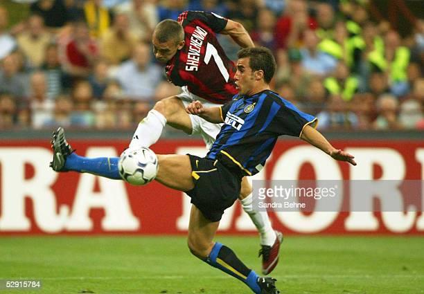 Champions League 02/03 Mailand Inter Mailand AC Mailand Andrei SHEVTCHENKO/AC Mailand Fabio CANNAVARO/Inter