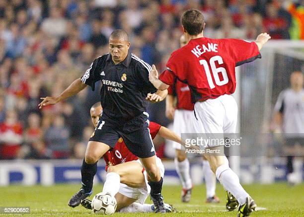 Champions League 02/03, Manchester; Manchester United - Real Madrid 4:3; RONALDO/Madrid, Roy KEANE/ManU