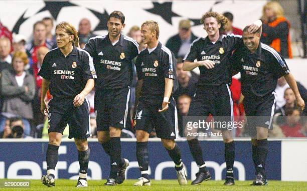 Champions League 02/03, Manchester; Manchester United - Real Madrid 4:3; Michel SALGADO, Fernando HIERRO, GUTI, Steve McMANAMAN, RONALDO/Madrid