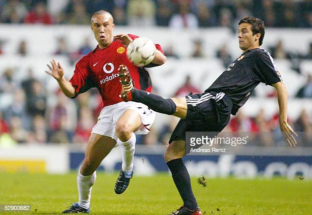 Champions League 02/03 Manchester Manchester United Real Madrid 43 Mickael SILVESTRE/ManU Santiago SOLARI/Madrid