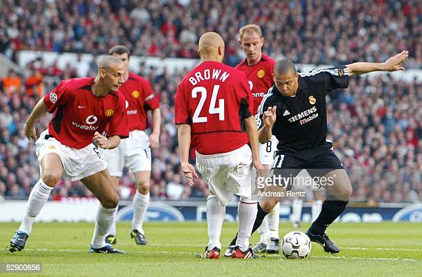 Champions League 02/03 Manchester Manchester United Real Madrid 43 Rio FERDINAND Wesley BROWN Nicky BUTT/ManU RONALDO/Madrid