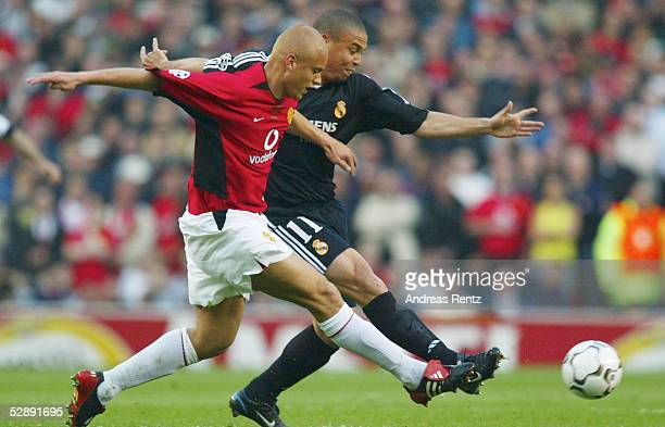 Champions League 02/03 Manchester Manchester United Real Madrid Rio FERDINAND/Manchester RONALDO/Real