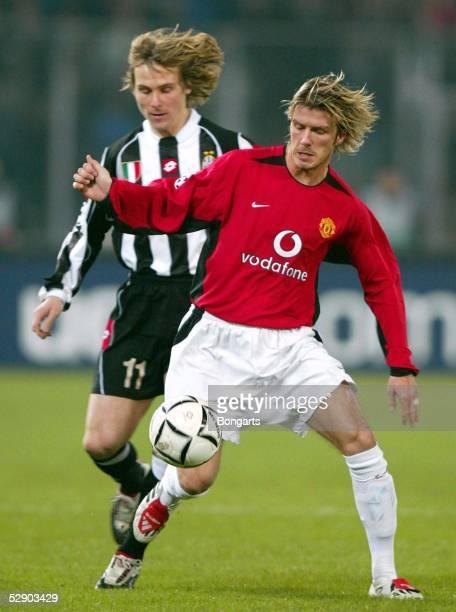 Champions League 02/03 Turin Juventus Turin Manchester United 03 Pavel NEDVED/Juventus David BECKHAM/Manu