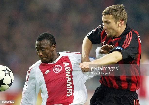 Champions League 02/03 Viertelfinale Amsterdam Ajax Amsterdam AC Mailand 00 Abubakari YAKUBU/Ajax Andriy SHEVCHENKO/Mailand