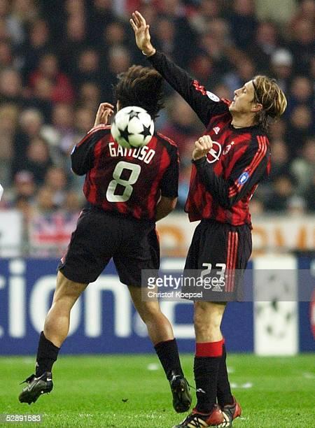 Champions League 02/03 Viertelfinale Amsterdam Ajax Amsterdam AC Mailand 00 Gennaro GATTUSO und Massimo AMBROSINI/AC Mailand