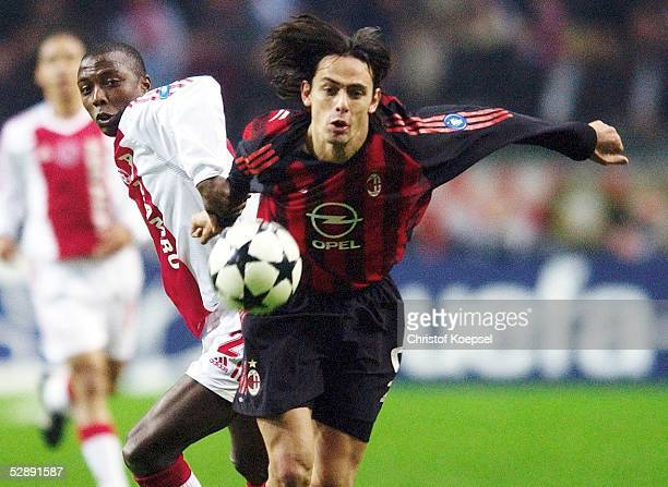 Champions League 02/03 Viertelfinale Amsterdam Ajax Amsterdam AC Mailand 00 Abubakari YAKUBU/AjaxFilippo INZHAGHI/Mailand