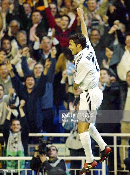 Champions League 02/03 Viertelfinale Madrid Real Madrid Manchester United 31 Jubel RAUL/Real