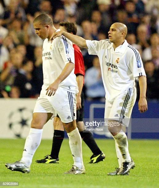 Champions League 02/03 Viertelfinale Madrid Real Madrid Manchester United 31 RONALDO Roberto CARLOS/Real