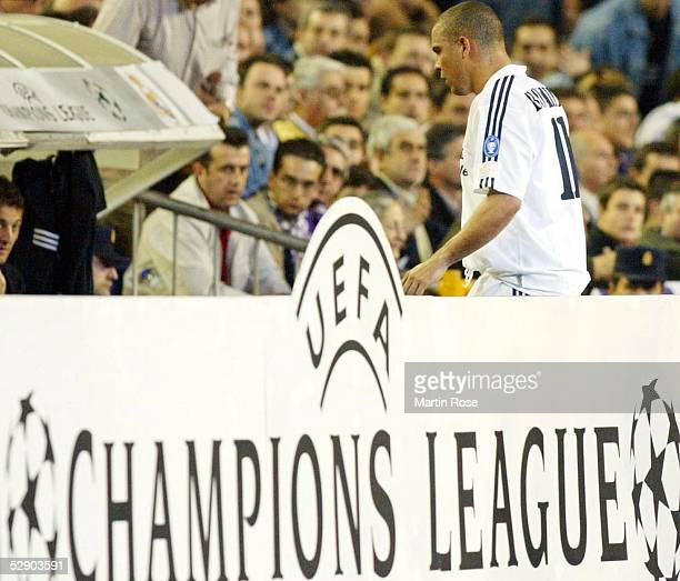 Champions League 02/03 Viertelfinale Madrid Real Madrid Manchester United 31 Auswechslung RONALDO/Real