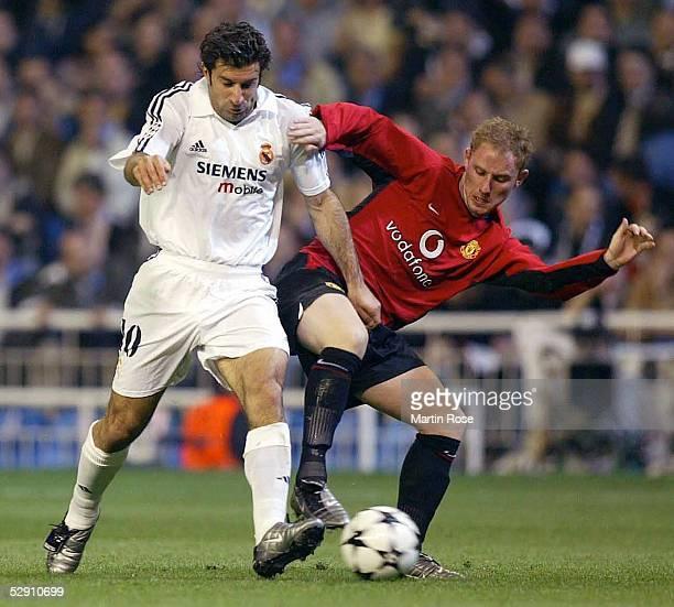 Champions League 02/03 Viertelfinale Madrid Real Madrid Manchester United 31 Luis FIGO/Madrid Nicky BUTT/Manchester