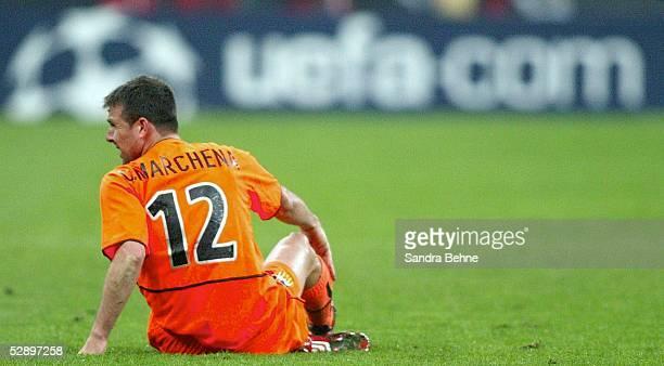 Champions League 02/03 Viertelfinale Mailand Inter Mailand FC Valencia 10 Carlos MARCHENA/Valencia