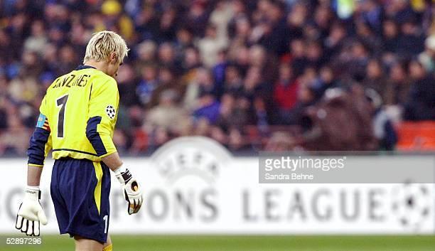 Champions League 02/03 Viertelfinale Mailand Inter Mailand FC Valencia 10 Torwart Santiago CANIZARES/Valencia