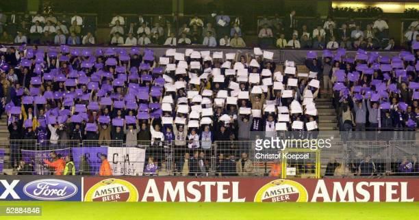 Champions League 03/04 Bruessel RSC Anderlecht FC Bayern Muenchen 11 Fans/Anderlecht