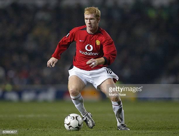 Champions League 03/04, Manchester; Manchester United - VfB Stuttgart 2:0; Paul SCHOLES/Manchester