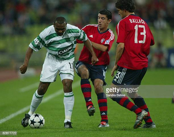 Champions League 03/04 Muenchen FC Bayern Muenchen Celtic Glasgow Didier AGATHE/CELTIC Roy MAKAAY Michael BALLACK/Bayern
