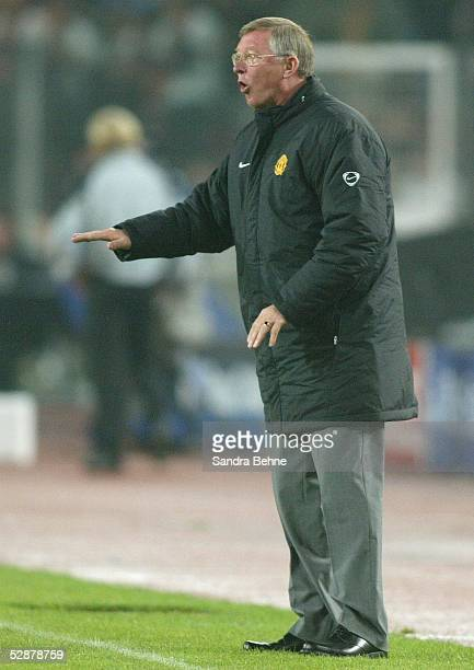 Champions League 03/04 Stuttgart VfB Stuttgart Manchester United 21 Trainer Sir Alex FERGUSON/ManU
