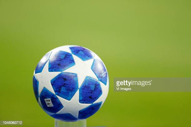 Champions league ball soccer bal voetbal during the UEFA Champions League group E match between Bayern Munich and Ajax Amsterdam at the Allianz Arena...