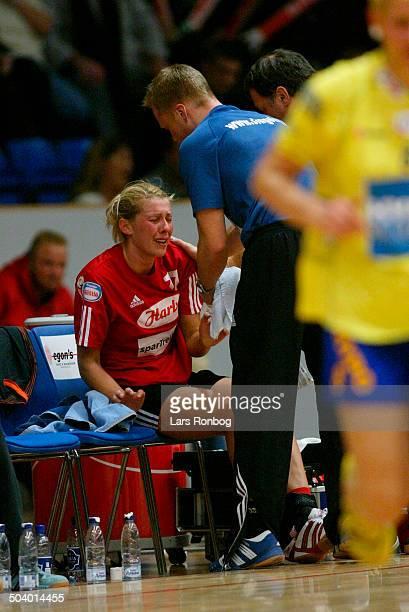 Champions League Bojana Petrovic Slagelse with an injury
