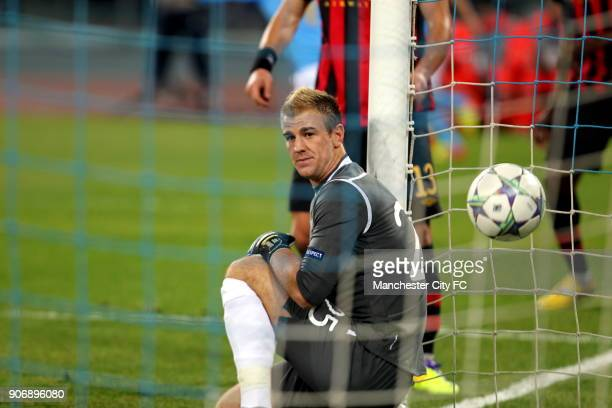 Champions League Group A Napoli v Manchester City Stadio San Paolo Manchester City's Joe Hart sits dejected