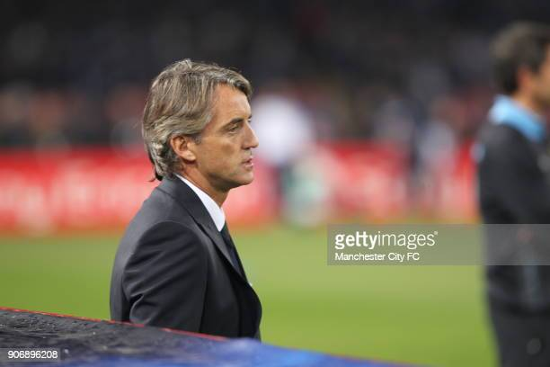 Champions League Group A Napoli v Manchester City Stadio San Paolo Roberto Mancini Manchester City manager