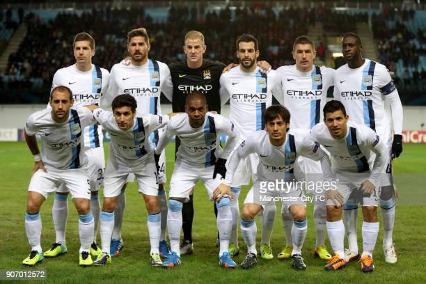 Champions League Group D CSKA Moscow v Manchester City Arena Khimki Manchester City's Matija Nastasic Javi Garcia Joe Hart Alvaro Negredo Aleksandar...