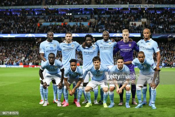 Champions League Group D Manchester City v Juventus Etihad Stadium Manchester City team group Back Row Yaya Toure Aleksandar Kolarov Wilfried Bony...