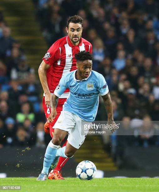 Champions League Group D Manchester City v Sevilla Etihad Stadium Manchester City's Kevin de Bruyne and Sevilla's Vicente Iborra in action