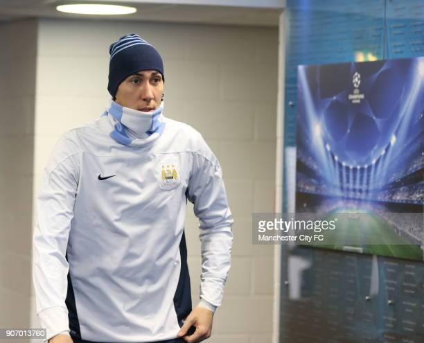 Champions League Group D Manchester City v Viktoria Plzen Manchester City Training and Press Conference Etihad Stadium Manchester Citys Costel...