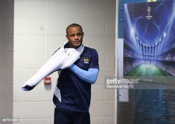 Champions League Group D Manchester City v Viktoria Plzen Manchester City Training and Press Conference Etihad Stadium Manchester citys Vincent...