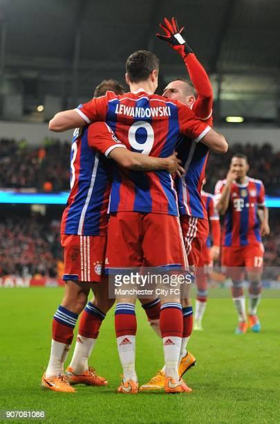 Champions League Group E Manchester City v Bayern Munich Bayern Munich's Robert Lewandowski celebrates scoring his sides second goal