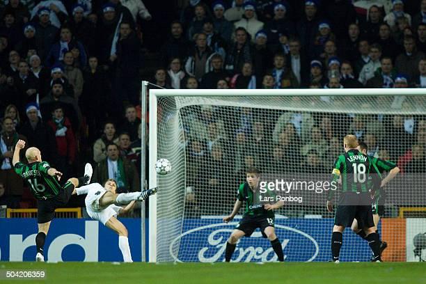 Champions League Jesper Grønkjær FCK making 20 goal against Celtic Thomas Gravesen
