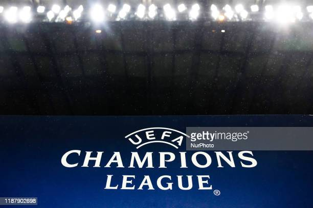 Champions League logo during the group H match Chelsea FC - Lille OSC, on December 10, 2019 in London, Great Britain.