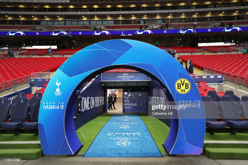 GBR: Tottenham Hotspur v Borussia Dortmund - UEFA Champions League Round of 16: First Leg