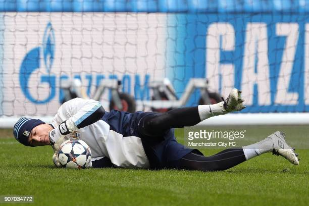 Champions League Round of 16 Manchester City v Barcelona Manchester City Training and Press Conference Etihad Stadium Manchester City's Joe Hart...