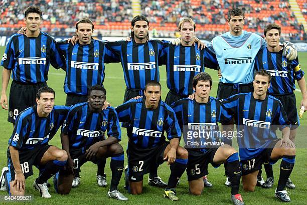 Champions League Season 2003-2004. Group B. FC International Milano vs FC Dynamo Kiev. The Inter Milan team. Ligue des Champions de Football, Saison...