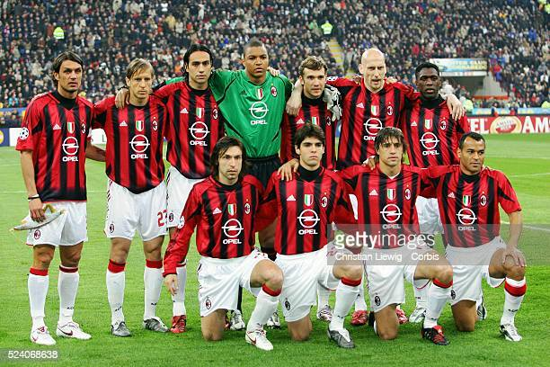 Champions League season 20042005 Internationale vs AC Milan AC Milab team lineup