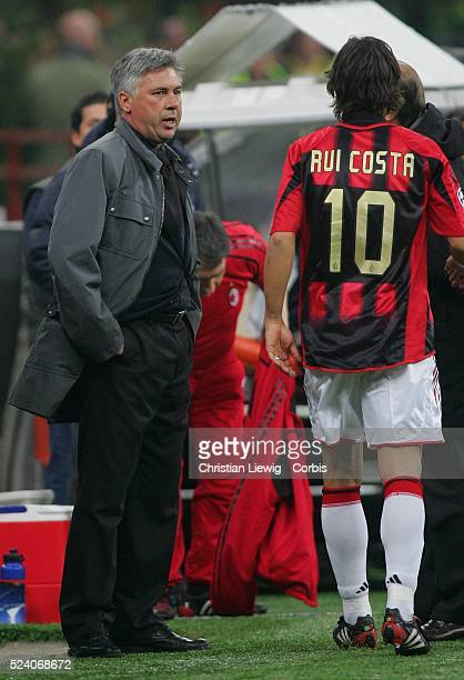 Champions League season 20042005 Internationale vs AC Milan AC Milan coach Carlos Ancelotti