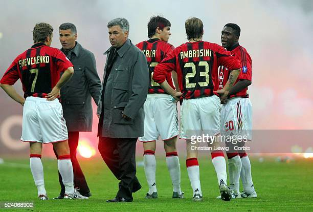 Champions League season 20042005 Internationale vs AC Milan Ac Milan's coach Carlos Ancelotti