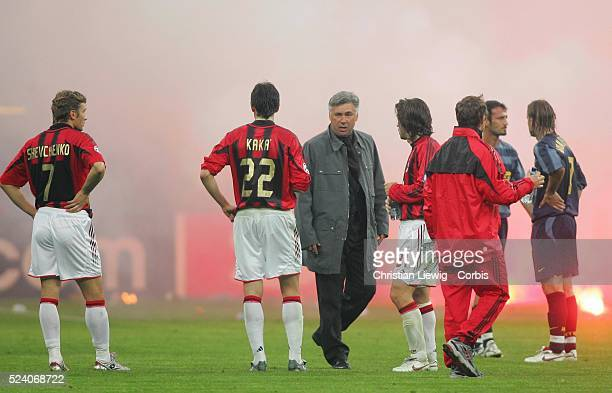 Champions League season 20042005 Internationale vs AC Milan Milan's coach Carlos Ancelotti
