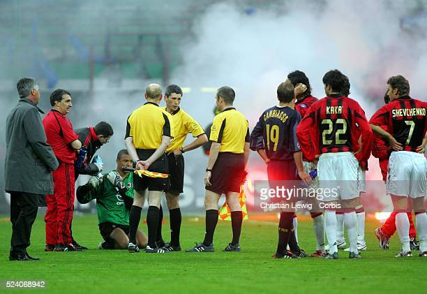 Champions League season 20042005 Internationale vs AC Milan Referee Markus Merk